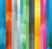 Abstract vector background of different color arrows. Design concept Stock Photography