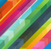 Abstract vector background of different color arrows Stock Images