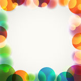 Abstract vector background of different color circles Stock Photos