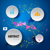 Abstract vector background from dots and lines. Infographic  Royalty Free Stock Photos