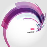 Abstract vector background element in pink and purple colors cur. Ve swirl perspective vector illustration Royalty Free Stock Photography