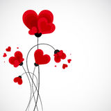 Abstract vector background. Flowers made with heart shape. Royalty Free Stock Photography