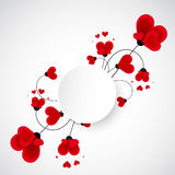 Abstract vector background. Flowers made with heart shape. Royalty Free Stock Photos