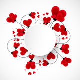 Abstract vector background. Flowers made with heart shape. Stock Image