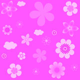 Abstract vector background with flowers. Royalty Free Stock Photos