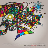 Abstract vector background with form Royalty Free Stock Photo