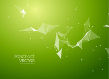 Abstract vector background. Futuristic style card. Background for business presentations. Molecular structure. Lines Royalty Free Stock Image