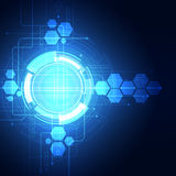 Abstract vector background. Futuristic technology style. Stock Image