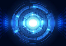 Abstract vector background. Futuristic technology style. Royalty Free Stock Photography