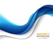 Abstract vector background, futuristic wavy stock illustration