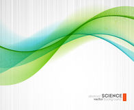 Abstract vector background, futuristic wavy Royalty Free Stock Image
