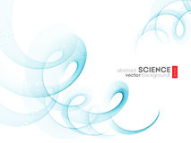 Abstract vector background, futuristic wavy Stock Image