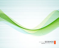 Abstract vector background, futuristic wavy Stock Photography