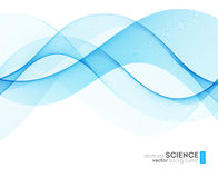Abstract vector background, futuristic wavy Stock Photos