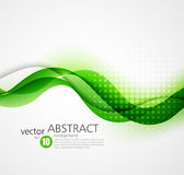 Abstract vector background, futuristic wavy Royalty Free Stock Photography