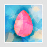 Abstract vector background with Geometric Pink Easter egg Royalty Free Stock Photography