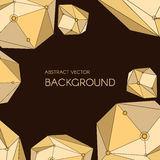 Abstract vector background with geometry crystals and stones. For web, banner Stock Image
