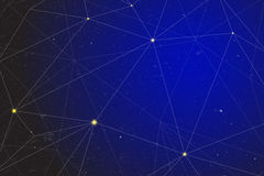 Abstract vector background of geometry shape and connected line link. Stock Images