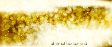 Abstract vector background in gold tones. Backdrop for decorating the site`s Header, banner, holiday cards, congratulations. Abstract vector background in gold Stock Image