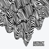 Abstract vector background is graphic, imitation fabrics, flowing lines, monochrome, interlacing fibers, for posters. Abstract vector background is graphic Royalty Free Stock Image