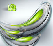 Abstract vector background green. Abstract vector background with green drops Stock Photo
