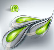 Abstract vector background green. Abstract vector background with green drops Royalty Free Stock Photos