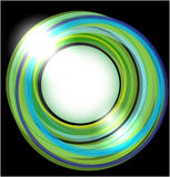 Abstract vector background with green circles Royalty Free Stock Photos