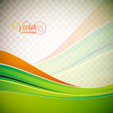 Abstract vector background with green waves. stock illustration