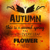 Abstract vector background on grunge paper. With place for your text. Autumn background. Grunge effects can be easily removed for a brand new, clean sign Royalty Free Stock Photo