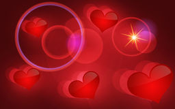 Abstract vector background with hearts. Royalty Free Stock Photos