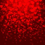 Abstract vector background with hearts Royalty Free Stock Photo