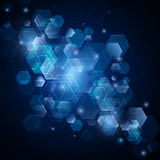 Abstract vector background with hexagons. technology design Royalty Free Stock Images