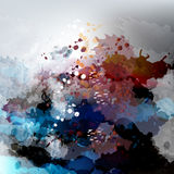 Abstract vector background with ink. Colored spots Royalty Free Stock Photo