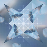 Abstract vector background with isometric cubes and prisms with Stock Photography
