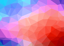 Abstract vector background low poly effect illustration. Royalty Free Stock Image