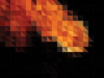 Abstract vector background made of triangles. Fire flash Stock Image