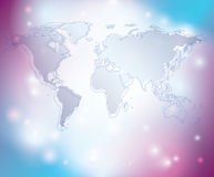 Abstract vector background with map of the world Stock Images
