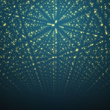 Abstract vector background. Matrix of glowing Royalty Free Stock Image