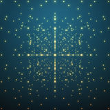 Abstract vector background. Matrix of glowing Royalty Free Stock Photos