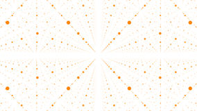 Abstract vector background. Matrix of orange dots with illusion of depth and perspective. Stock Image