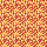Abstract vector background with mosaic in yellow, red stock illustration