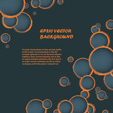 Abstract vector background with orange cutout Royalty Free Stock Photography