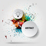 Abstract vector background with paint splashes and connecting  Royalty Free Stock Photo