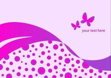 Abstract vector background pink. Butterfly text Stock Photos