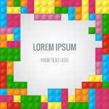 Abstract vector background with plastic blocks parts similar lego block vector illustration