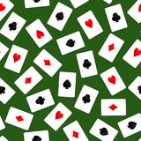 Playing Card Scattered on Table Stock Images
