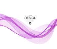 Abstract vector background, purple wavy. Abstract vector background, purple waved lines for brochure, website, flyer design. Transparent wave. Science or Royalty Free Stock Photo