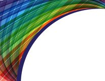 Abstract vector background with rainbow waves Stock Images