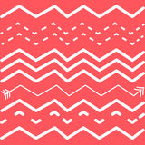 Abstract vector background. On red backgroud. White lines Stock Image