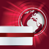Abstract vector background with red globe Stock Photography